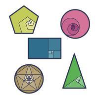 Géométrie du ratio d'or vecteur