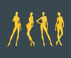 Set de Vector mannequin posés