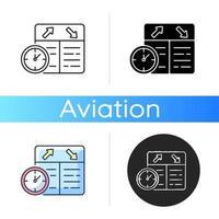 icône de planification de vol vecteur
