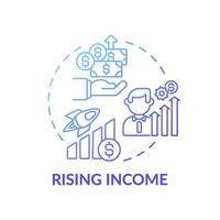 icône de concept de revenu en hausse