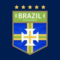 Badges de football de la Coupe du monde au Brésil vecteur