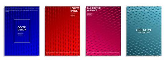 illustration vectorielle de couverture abstraite. conception de forme géométrique colorée. pour brochure, dépliant, affiche, dépliant, couverture de livre, etc. illustration vectorielle vecteur