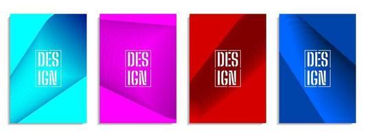 couverture abstraite conception de forme géométrique colorée vecteur