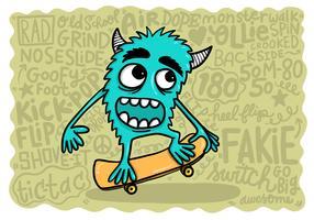 skateboard monstre vecteur
