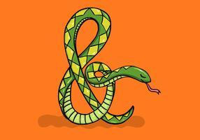 illustration d'esperluette de serpent vecteur