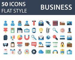 ensemble d'icône de l'entreprise dans un style plat isolé sur fond blanc. pour la conception de votre site Web, logo, application, interface utilisateur. illustration graphique vectorielle et trait modifiable. eps 10. vecteur