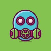 illustration d'icône de vecteur de masque. style de dessin animé plat adapté à la page de destination Web, bannière, autocollant, arrière-plan.