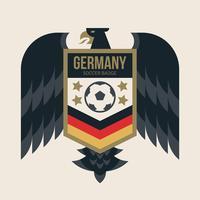 Badges de la Coupe du monde de football en Allemagne vecteur