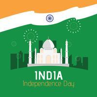 Jour de l'indépendance de l'Inde vecteur