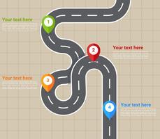 Vecteurs de carte routière exceptionnelle