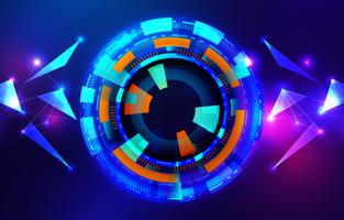 concept de hud circulaire techno