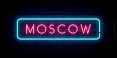 enseigne au néon de Moscou. vecteur