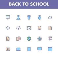 pack d'icônes de l'éducation isolé sur fond blanc. pour la conception de votre site Web, logo, application, interface utilisateur. illustration graphique vectorielle et trait modifiable. eps 10. vecteur
