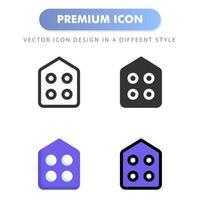 icône d'accueil pour la conception de votre site Web, logo, application, interface utilisateur. illustration graphique vectorielle et trait modifiable. conception d'icône eps 10. vecteur