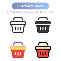 icône de panier pour la conception de votre site Web, logo, application, interface utilisateur. illustration graphique vectorielle et trait modifiable. conception d'icône eps 10.