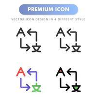 traduire l'icône pour la conception de votre site Web, logo, application, interface utilisateur. illustration graphique vectorielle et trait modifiable. conception d'icône eps 10. vecteur