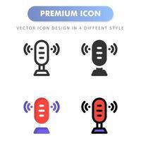 icône de microphone pour la conception de votre site Web, logo, application, interface utilisateur. illustration graphique vectorielle et trait modifiable. conception d'icône eps 10.