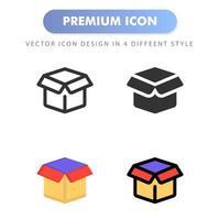 icône de boîte pour la conception de votre site Web, logo, application, interface utilisateur. illustration graphique vectorielle et trait modifiable. conception d'icône eps 10. vecteur