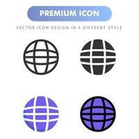icône Internet pour la conception de votre site Web, logo, application, interface utilisateur. illustration graphique vectorielle et trait modifiable. conception d'icône eps 10. vecteur