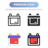 icône de calendrier pour la conception de votre site Web, logo, application, interface utilisateur. illustration graphique vectorielle et trait modifiable. conception d'icône eps 10. vecteur