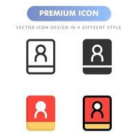 icône de contact pour la conception de votre site Web, logo, application, interface utilisateur. illustration graphique vectorielle et trait modifiable. conception d'icône eps 10. vecteur