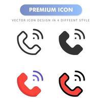 icône de téléphone pour la conception de votre site Web, logo, application, interface utilisateur. illustration graphique vectorielle et trait modifiable. conception d'icône eps 10. vecteur