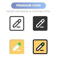 modifier l'icône pour la conception de votre site Web, logo, application, interface utilisateur. illustration graphique vectorielle et trait modifiable. conception d'icône eps 10. vecteur