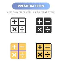 icône de la calculatrice pour la conception de votre site Web, logo, application, interface utilisateur. illustration graphique vectorielle et trait modifiable. conception d'icône eps 10. vecteur