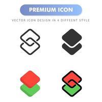 icône de couche pour la conception de votre site Web, logo, application, interface utilisateur. illustration graphique vectorielle et trait modifiable. conception d'icône eps 10. vecteur