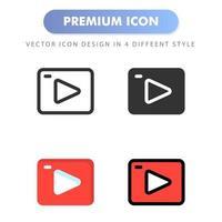 icône de streaming pour la conception de votre site Web, logo, application, interface utilisateur. illustration graphique vectorielle et trait modifiable. conception d'icône eps 10. vecteur