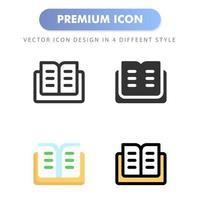 icône de livre pour la conception de votre site Web, logo, application, interface utilisateur. illustration graphique vectorielle et trait modifiable. conception d'icône eps 10. vecteur