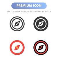 icône de boussole pour la conception de votre site Web, logo, application, interface utilisateur. illustration graphique vectorielle et trait modifiable. conception d'icône eps 10.