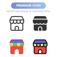 icône de magasin pour la conception de votre site Web, logo, application, interface utilisateur. illustration graphique vectorielle et trait modifiable. conception d'icône eps 10. vecteur