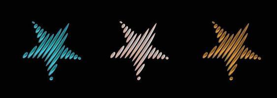 ensemble de vecteur d'icône étoile. fond d'illustration de symbole de style 3d simple.