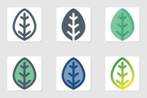 icône de feuille en isolé sur fond blanc. pour la conception de votre site Web, logo, application, interface utilisateur. illustration graphique vectorielle et trait modifiable. eps 10. vecteur