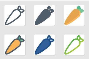 icône de carotte en isolé sur fond blanc. pour la conception de votre site Web, logo, application, interface utilisateur. illustration graphique vectorielle et trait modifiable. eps 10. vecteur