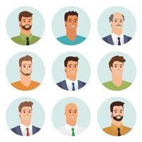 avatars de gens daffaires vecteur