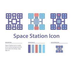 icône de l'espace de la station en isolé sur fond blanc. pour la conception de votre site Web, logo, application, interface utilisateur. illustration graphique vectorielle et trait modifiable. eps 10. vecteur