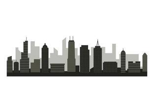 bâtiment de la ville paysage urbain skyline affaires fond blanc illustration vecteur
