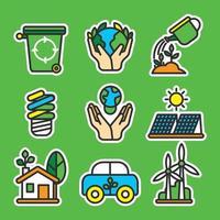 concept d'icône de jour de la terre vecteur