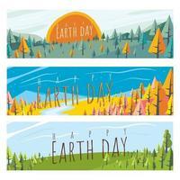 concept de bannière de jour de la terre vecteur