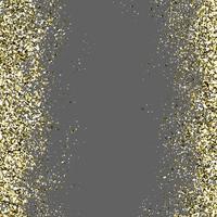 Paillettes dorées dans un fond transparent