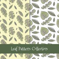 Collection de motifs de feuilles mignon