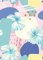 éléments abstraits et modèle sans couture d & # 39; hibiscus vecteur