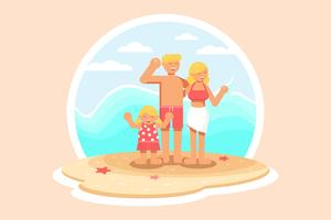 Vecteur de vacances en famille