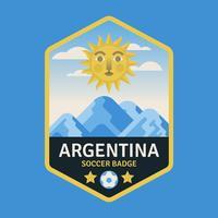 Badges de la Coupe du Monde de Football d'Argentine vecteur