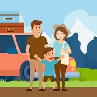 Vacances en famille vecteur