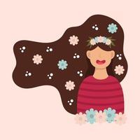 conception internationale de la journée des femmes heureux vecteur