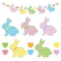 guirlande de lapins colorés vecteur