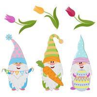 gnomes du printemps de Pâques